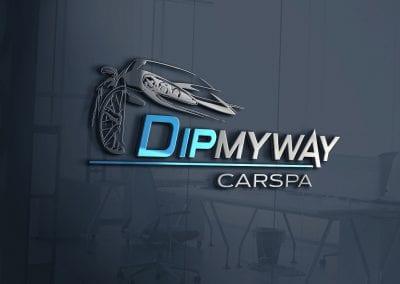 LOGO - Dipmyway - Carspa, MOCKUP