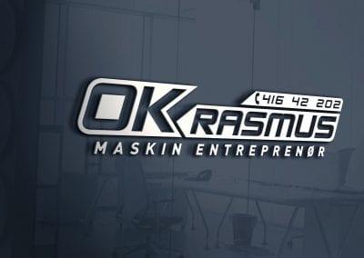 LOGO - OK Rasmus maskin AS, MOCKUP